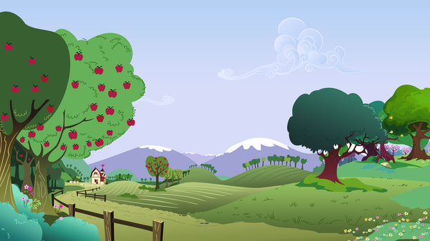 Background Scenery Hillside Farm by TimeImpact