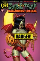 Zombie Tramp Halloween Special Risque Cover F by BillMcKay