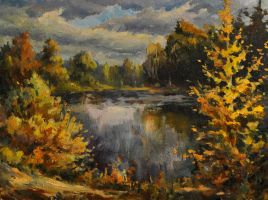 Lake in the forest by exact-brush