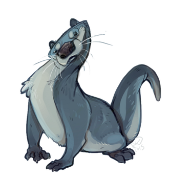 Icy Otter by Shantyland