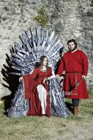 On the Iron throne by LadyLessienFelagund