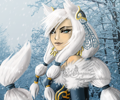 Snow fox by Webmegami