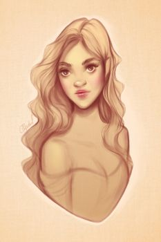 Bust sketch 1 by andrada-art