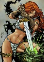 Red Sonja by Benes-colored by Jrascoe