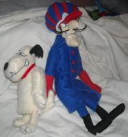Dastardly and Muttley Plush by DonutTyphoon