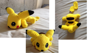 Amigurumi-pikachu by Caterpillor