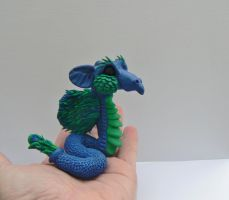 Dragon Full of Sparkle Ooak Sculpture by Creatures-of-Fae