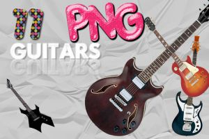 Guitars PNG by imaginestrawberries