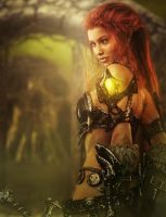 Redhead Warrior Girl Fantasy 3D-Art by shibashake