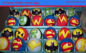 DC HEROES SHIELDS- EASTER EGGS by Rene-L