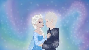 Elsa and Jack Frost by wesawgirl