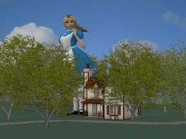 Alice and Dutchess' House by Allogagan