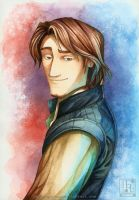 Flynn Rider Watercolour by EternaLegend