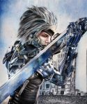 Raiden (Metal Gear Rising) by Eternal--Art