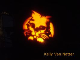 Puss n Boots Pumpkin by vannatterkelly