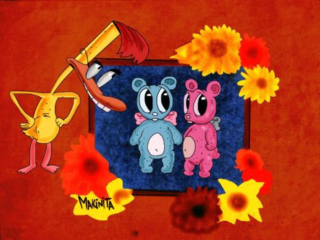 Fluffy N Uranus By Makinita by Makinita
