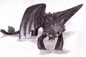 Toothless-traditional by Kitty-Krazy