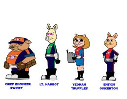 Pigs in Space cast 3 by Gonzocartooncompany