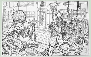 Steampunk: Lineart by Cynister009