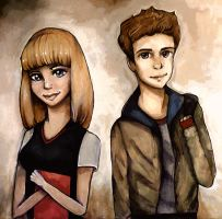 Peter Parker and Gwen Stacy by Rubysnuff