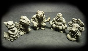 AMP: Amusing Mini Paranormals (first 5 figures!) by Meadowknight