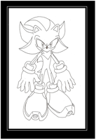 Shadow The Hedgehog lineart by funkyjeremi