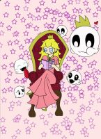 Story Time with Princess Peach by Vampenxwitch