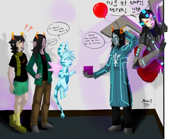 OCs Meet and Greet: Late for the Party by rcxdirectrix