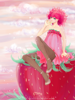 A Strawberry drinks Lemon by Mikandii