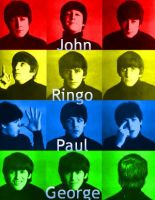 The Beatles Color Manip. 2 by WilburRobinsonsGirl