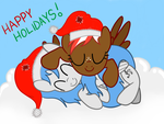 Happy Holiday's Nexus and Arnyia 2012 by SolidSnake123