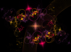 CURLY CUEZ RED 2 BLACK  Apophysis-130512-1 by CorazondeDios