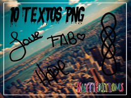 Pack de Textos PNG by KattyEditionss