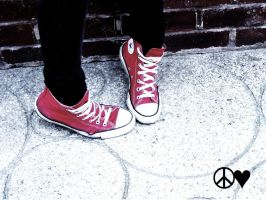 Peace love Converse by SupermassiveDeadStar