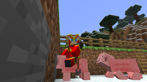 Quickman Riding a Pig by ThisMechaJunkie