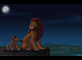 king and cub by SneakyyLion