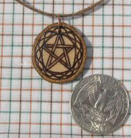 Pentacle Oak pendant by laurapalmerwashere