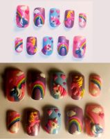 My Little Pony nails by The-Lady-of-Kuo