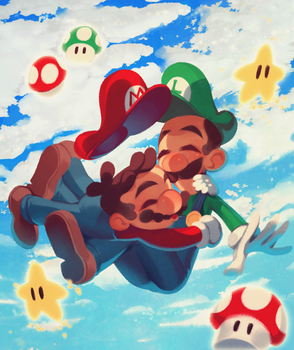 Super brothers!! by Kiddy-chan