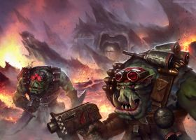 Ork Kommando's by MoonSkinned