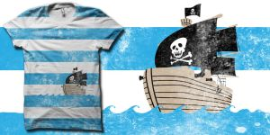 Pirates love stripes shirt by biotwist