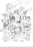 Uncanny X-Men - Drink'n'Draw sept11th2013 by SpiderGuile