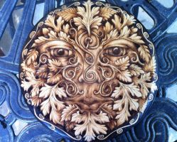 2014 Pictish Spirals Greenman by parizadhe