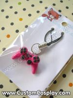 Hot pink game control charm by The-Cute-Storm