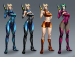 Zero Suit Samus - alt costumes by RaidouZERO