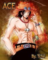 one piece 'ace' by polia-kov