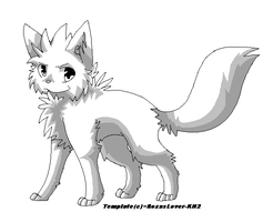 .: Shaded Wolf Template :. by RoxasLover-KH2