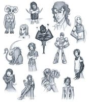 Eden Contestants Sketchdump by ChaoticInsanity13