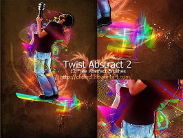 Twist Abstract Brushes Photoshop by Kevinleyrobinho