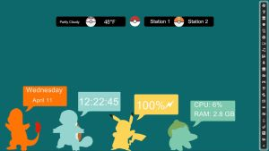 Pokemon rainmeter by Dswizle